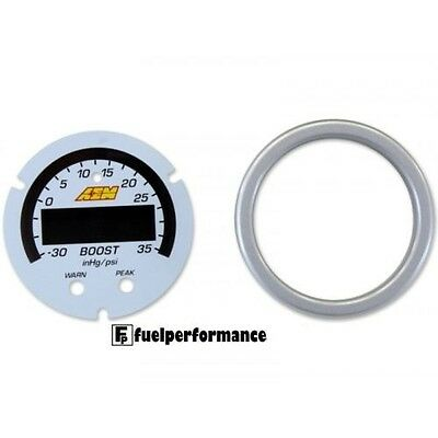 X-Series Boost Pressure Gauge Accessory Kit - Silver Bezel & White Faceplate