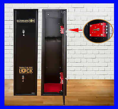 Ultimate Safe® 4 Shotgun Rifle Gun Safe Cabinet With Ammo Box