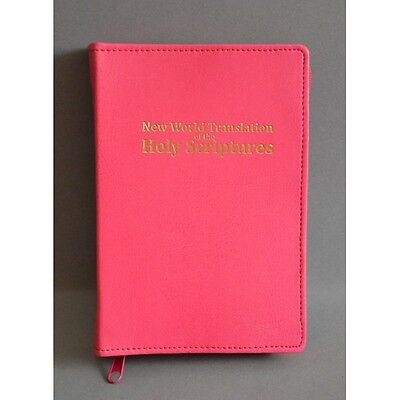 New World Translation Zipped Bible Cover Jehovah's Witness - pink
