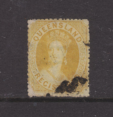 QLD CHALON  SG20? PERF 15  REGISTERED 6d ORANGE YELLOW. USED