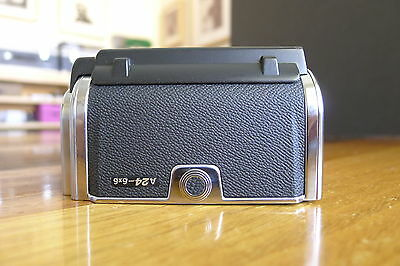 HASSELBLAD A24 film back latest Chrome with matched insert Excellent++
