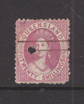 Qld Chalon  20/ Rose Sg 127, Not Sure What The Hole Is Telegraph Puncture??
