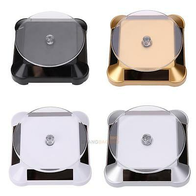 Solar Showcase 360° Turntable Rotating Jewelry Watch Phone Ring Display Stand