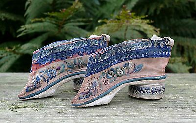 A Pair of Chinese Emroidered Silk Child's Shoes, 19th/20th Century
