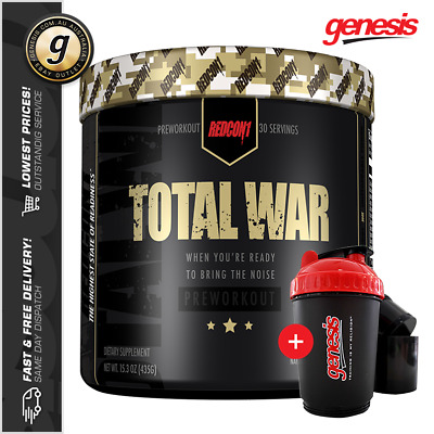 Total War by Redcon1 - REDCON ONE High Stim Pre-Workout + FREE 3in1 Shaker!