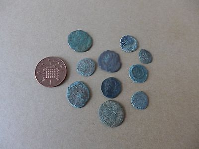 10 Uncleaned British Found Roman Coins Dating 3rd-4th Century AD (3)