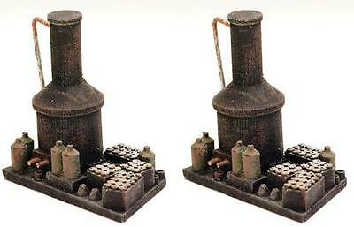 2 MOONSHINERS Stills in O Scale, detailed down to the bottles /jars