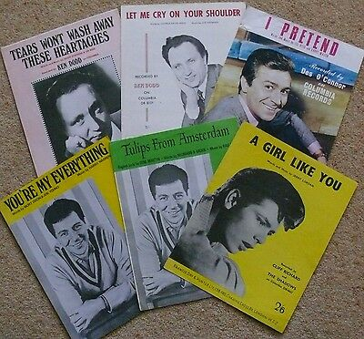6 pieces of 60's sheet music