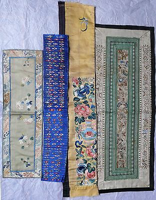 Four Chinese Silk Textile Items, 19th/20th Century