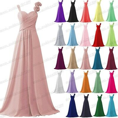 Long Chiffon Wedding Evening Formal Party Ball Gown Prom Bridesmaid Dress 6-22