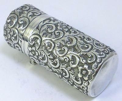 Victorian hallmarked Sterling Silver-cased Scent/Perfume Bottle – Chester 1900