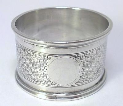 Antique hallmarked Sterling Silver Napkin Ring (30g) – 1908 (not engraved) - {1}