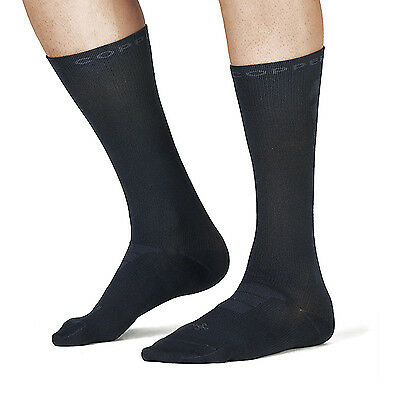 NEW Tommie Copper, Men's Recovery Vitality Compression Dress Crew Socks, Navy S