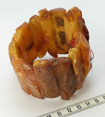 84.2gr Genuine Vintage Baltic Semi Raw Amber Bracelet (not pressed!)
