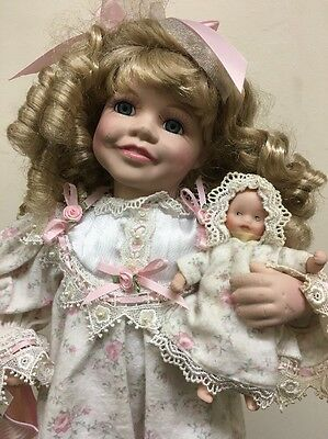 Rare Victorian Collection - GENUINE Porcelain Doll by Melissa Jayne