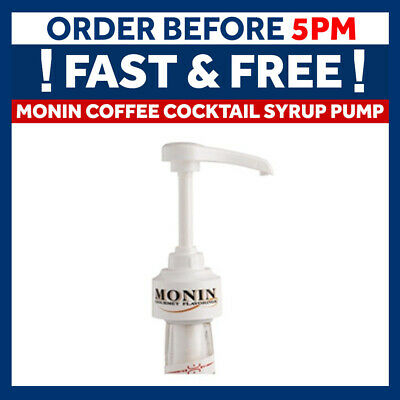 Monin Coffee Cocktail Syrup Pump Dispenser For 70cl Glass Bottles