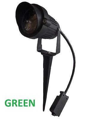 12v LED outdoor garden spot light with spike  low voltage 3W 12 volt  IP65 green