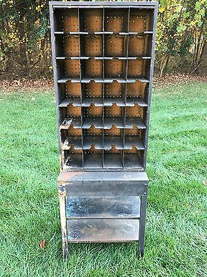 Antique Post Office Mailbox w/28 holes