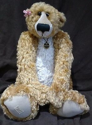 Deans Mohair Teddy Bear - Patsy Paw By Jill Baxter - No 115 Of 500 New With Tags