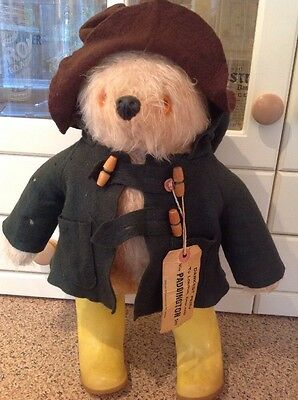 Paddington Bear Made By Gabrielle Clothes A Bit Moth Eaten Otherwise Good Condi