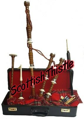 New Great Highland Bagpipes Rosewood Half Set/Scottish Bagpipes with Hard Case