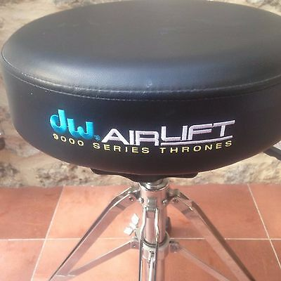 DW 9000 Series Airlift Round Top Throne / Drum Stool