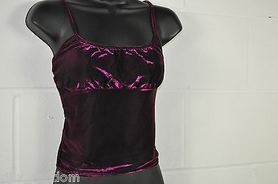 Teen Girls Purple Sparkle Sleeveless Top UK Size 146cm to 152cm Vintage New Look
