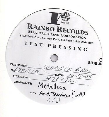 Metallica - And Justice For All 2008 US Test Pressing 2 x LP VERY RARE