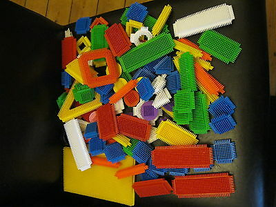 Bucket of Stickle Bricks 99pcs in Good Condition