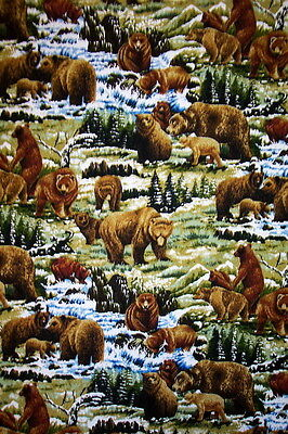 Bears-- Padded Cover For 15X55 Ironing Board
