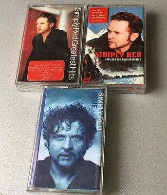 VINTAGE# SIMPLY RED3x MC CASSETTE TAPE BLUE GREATEST HITS LOVE AT THE RUSSIAN W