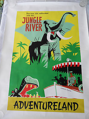"3 - 48"" X 36"" The Disney Gallery Store Posters 2005 Autopia / Jungle / Voyage"