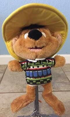 "90's Looney Tunes Speedy Gonzales w/Poncho Plush 11""Tall Ace Warner Bros 1998"
