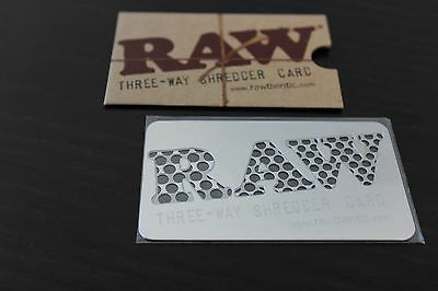 Herb GRINDER RAW THREE WAY SHREDDER CARD~New~Authorized Raw Distributor ~