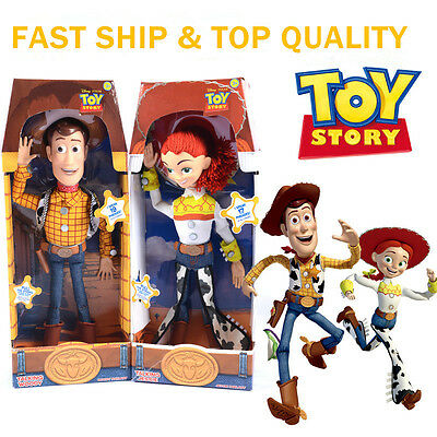 """Original Toy Story 3 Pull String WOODY JESSIE 15"""" Talking  Action Figure Doll UK"""
