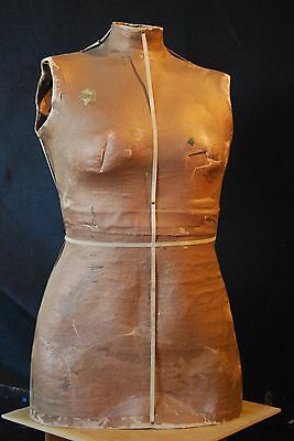 Vintage Coppery Tailor's Mannequin - Female Torso