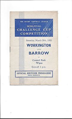 1951-2 Rugby League Challenge Cup Semi Final Barrow  V Workington Town @ Wigan