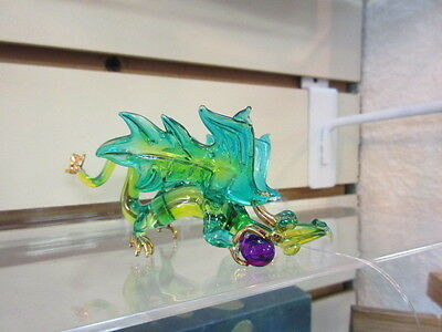 Beautiful hand blown hanging or table top Wizard Glass Dragon #3