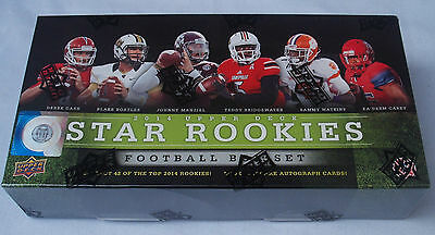 Upper Deck 2014 Football Star Rookies Trading Card Box Set New & Sealed
