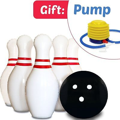 Indoor and Outdoor Play Giant Inflatable Bowling Ball set with 6+2 pins Bowler