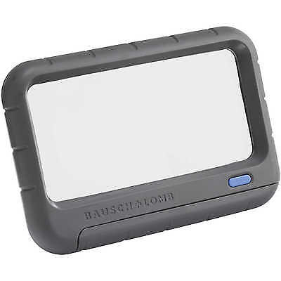 Bausch & Lomb Rectangular Illuminated Magnifier, 2x