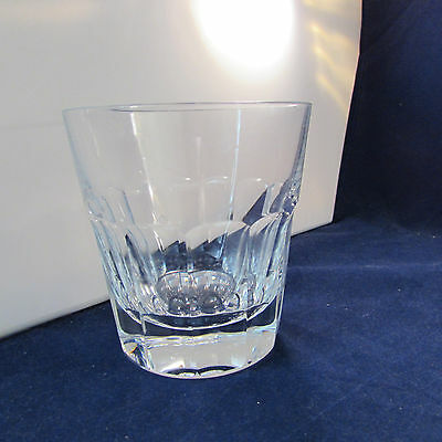 "St Louis France Crystal ""Panel Cut"" Large Whiskey Glass"
