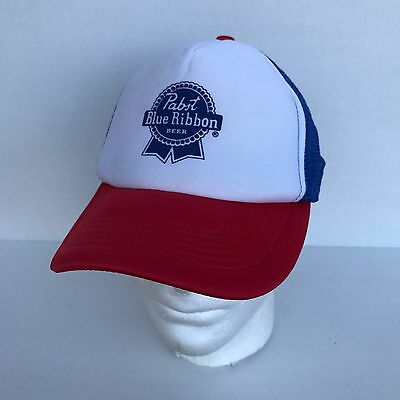 Pabst Blue Ribbon PBR Snapback Mesh Trucker Hat - Free Shipping  Hipsters