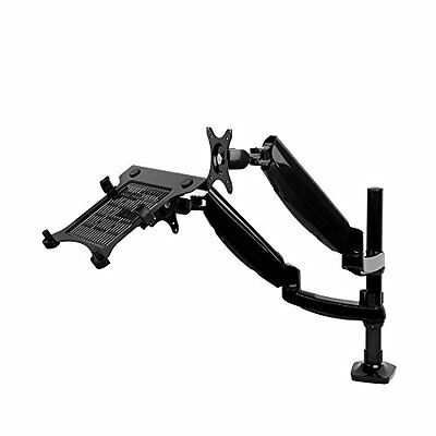 2 in 1 FLEXIMOUNTS L02 Height adjustable Dual Arm LCD Stand Gas Spring Laptop