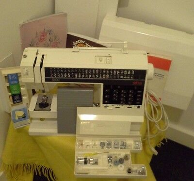 Elna 9000 Computerised Sewing Embroidery Machine. Many Extras including Cassette