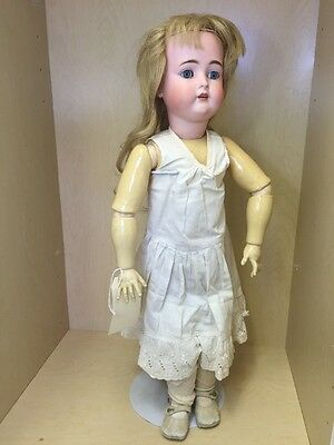 "Antique Adolf Wislizenus Doll 29"" Bisque Head,"