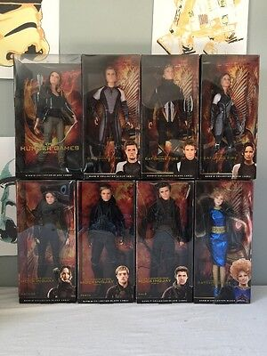 Barbie The Hunger Games Black Label Complete Set Collection Katniss Peeta Gale