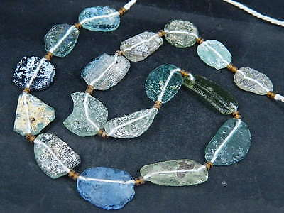 Ancient Fragment Glass Beads Strand Roman 200 BC     #BE1432
