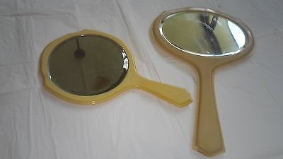 Two Vintage Bakelite Mirrors