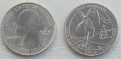 USA Quarter America the Beautiful - Fort Moultrie D 2016 unz.